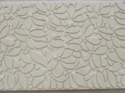 Leaves stone panel